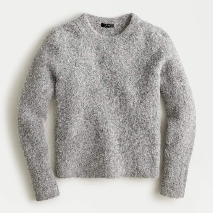 j crew puffy crew neck sweater
