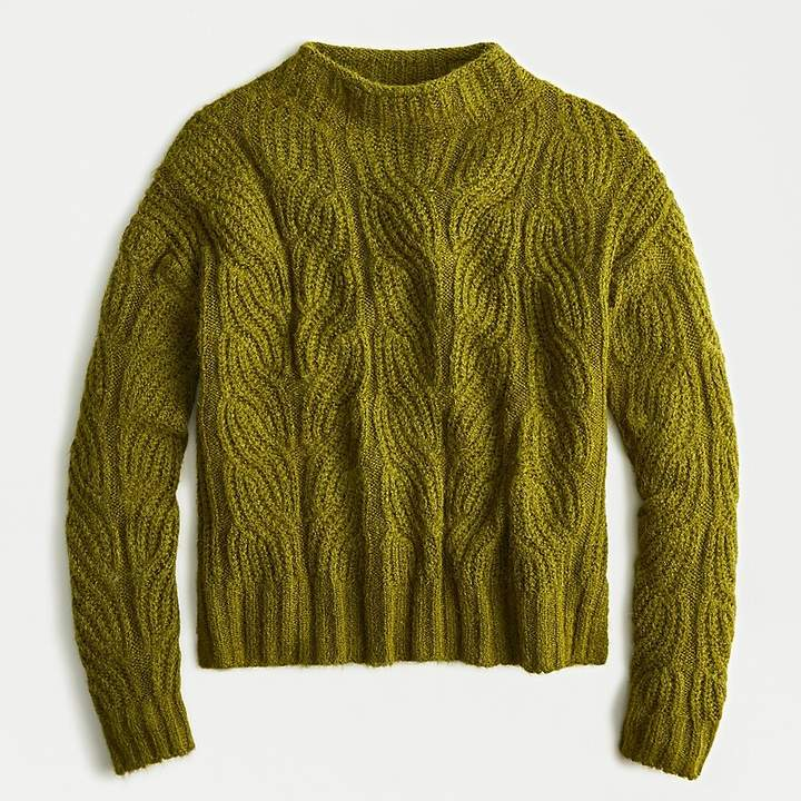 j crew pointelle cable sweater
