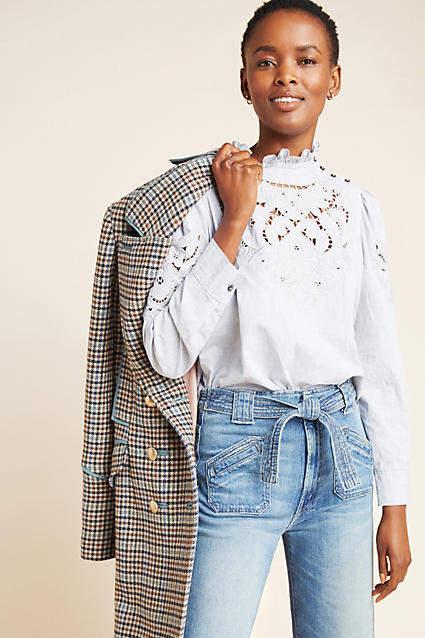 rebecca taylor phoebe eyelit blouse