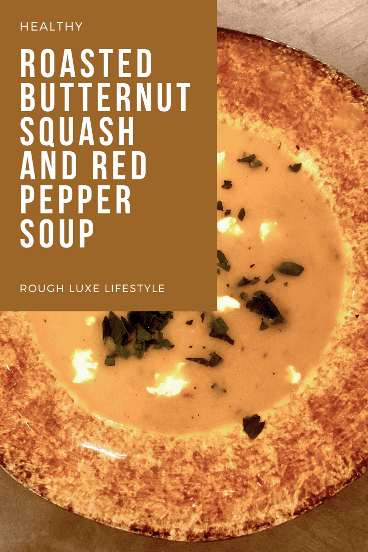 roasted butternut squash and red pepper soup