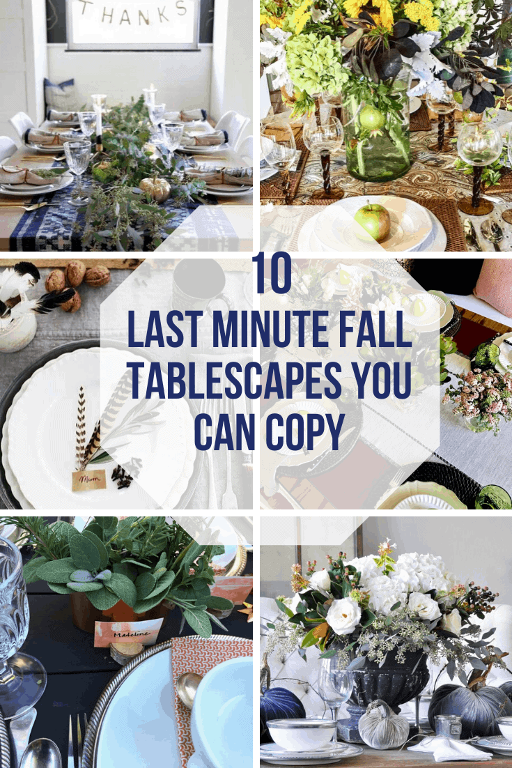 10 last minute fall tablescapes you can copy