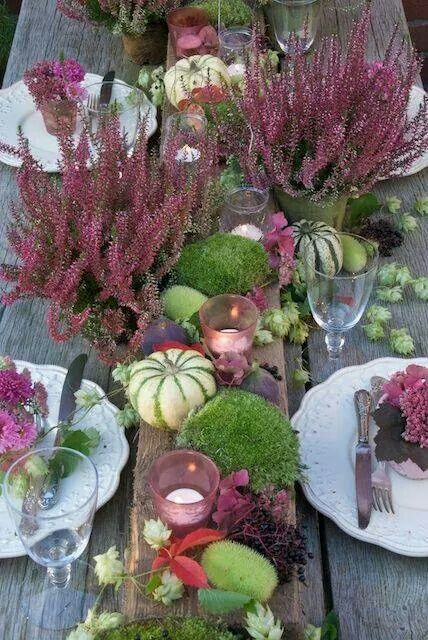 fall tablescape Oszi asztaldisz