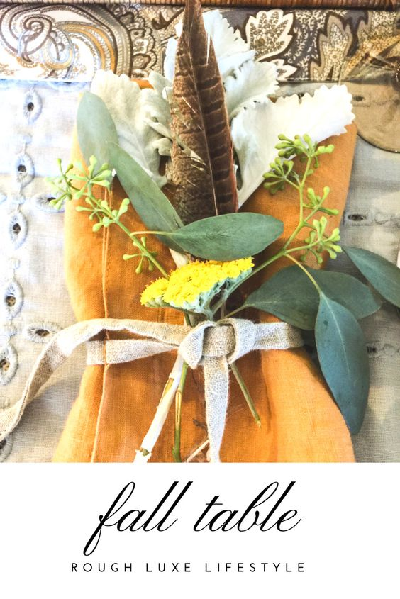 fall tablescape rough luxe lifestyle