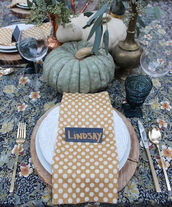 white buffalo styling thanksgiving tablescape