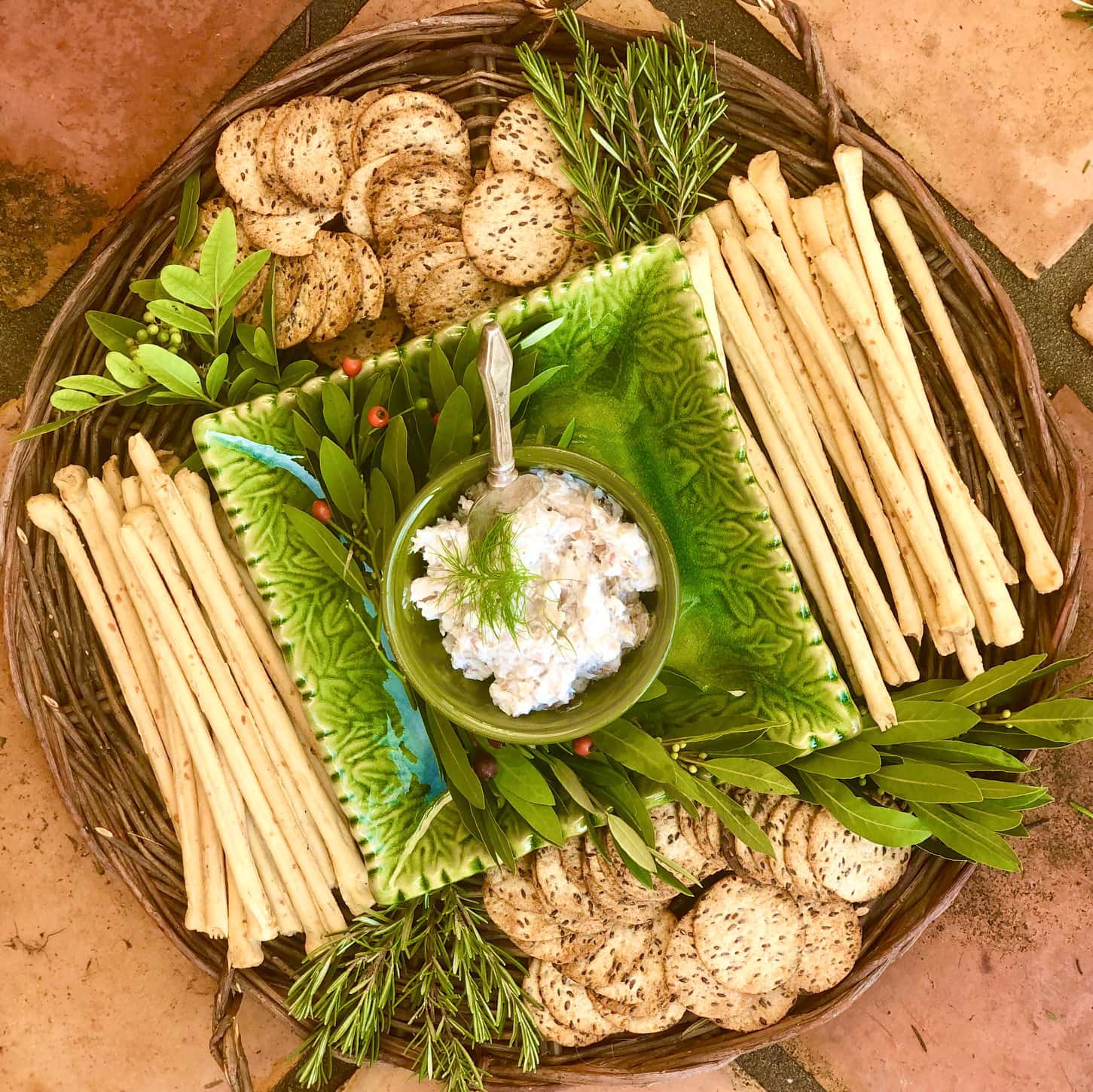 Smoked Trout Dip with Crackers