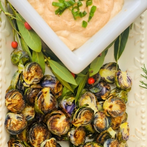 brussel sprouts with chipotle sauce