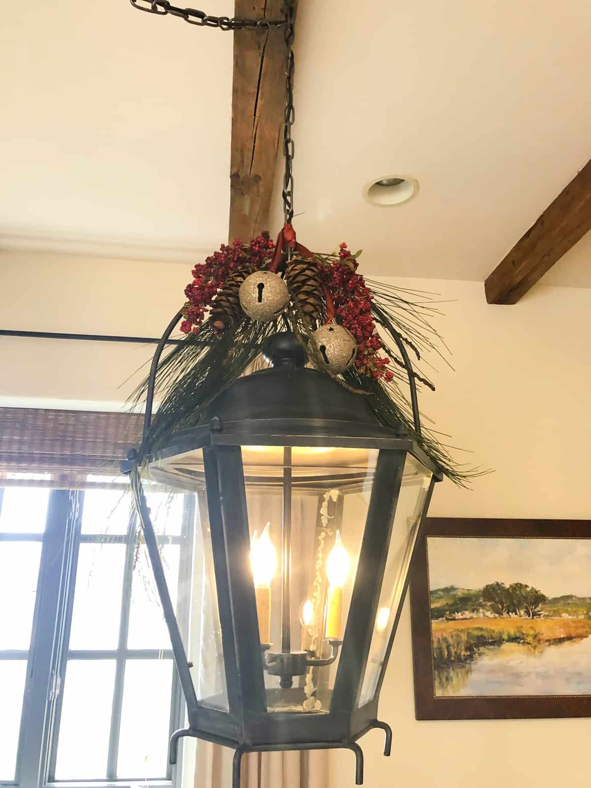 cindy hattersleys lantern decked out for christmas