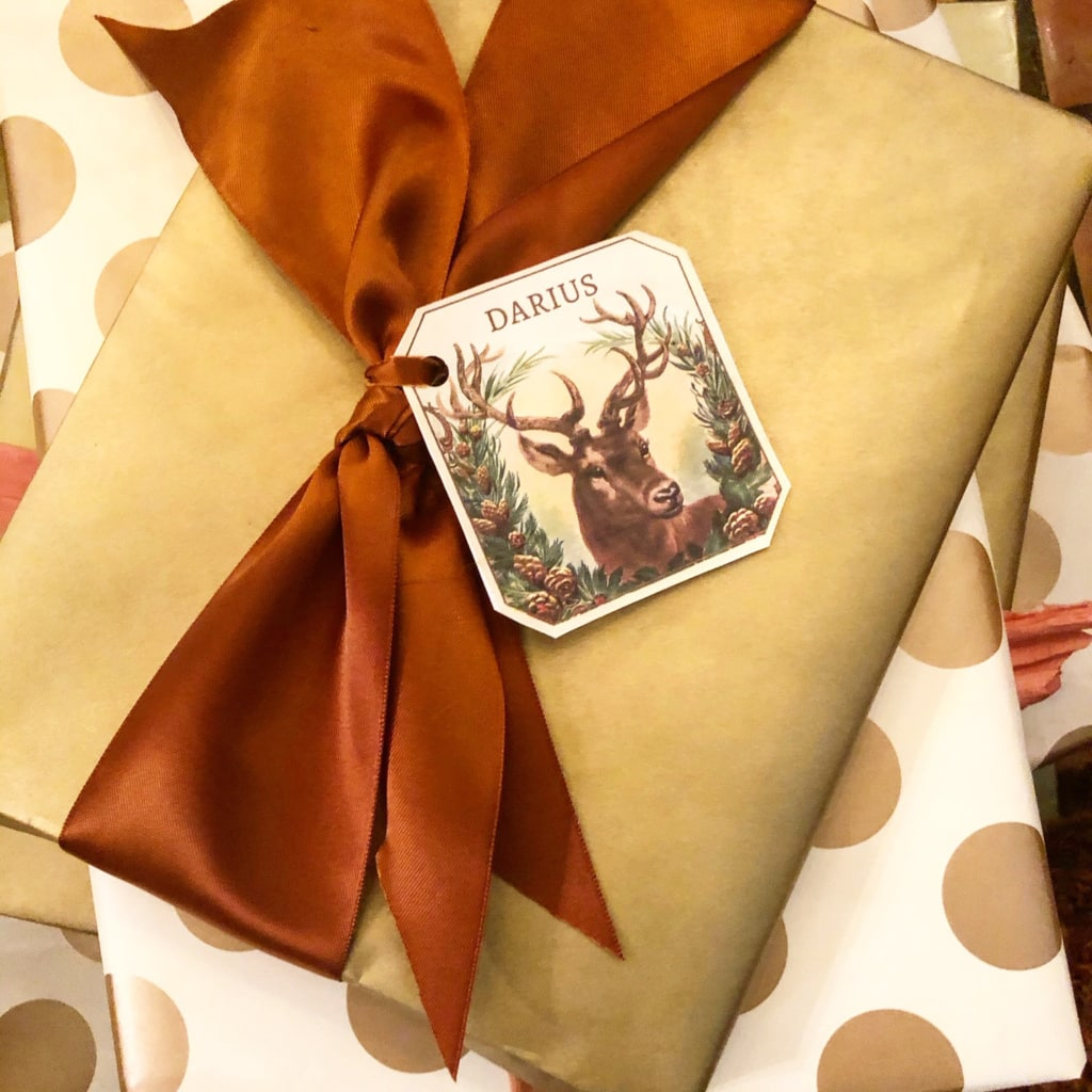 merry christmas deer gift tag cindy hattersley design