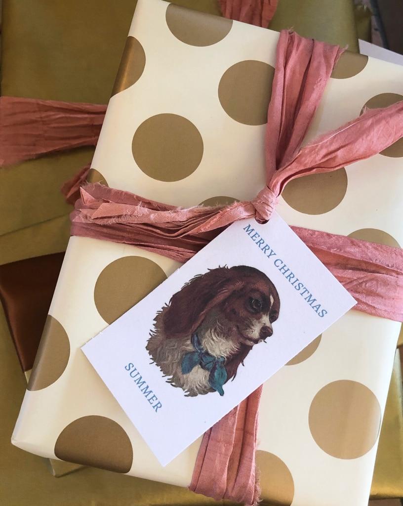 merry christmas king charles gift tag