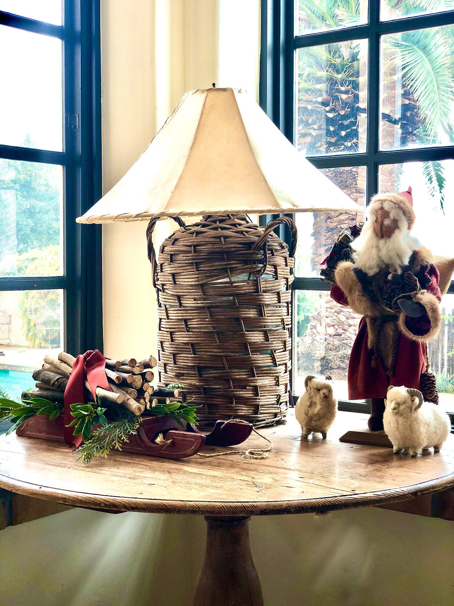 handmade santa on table