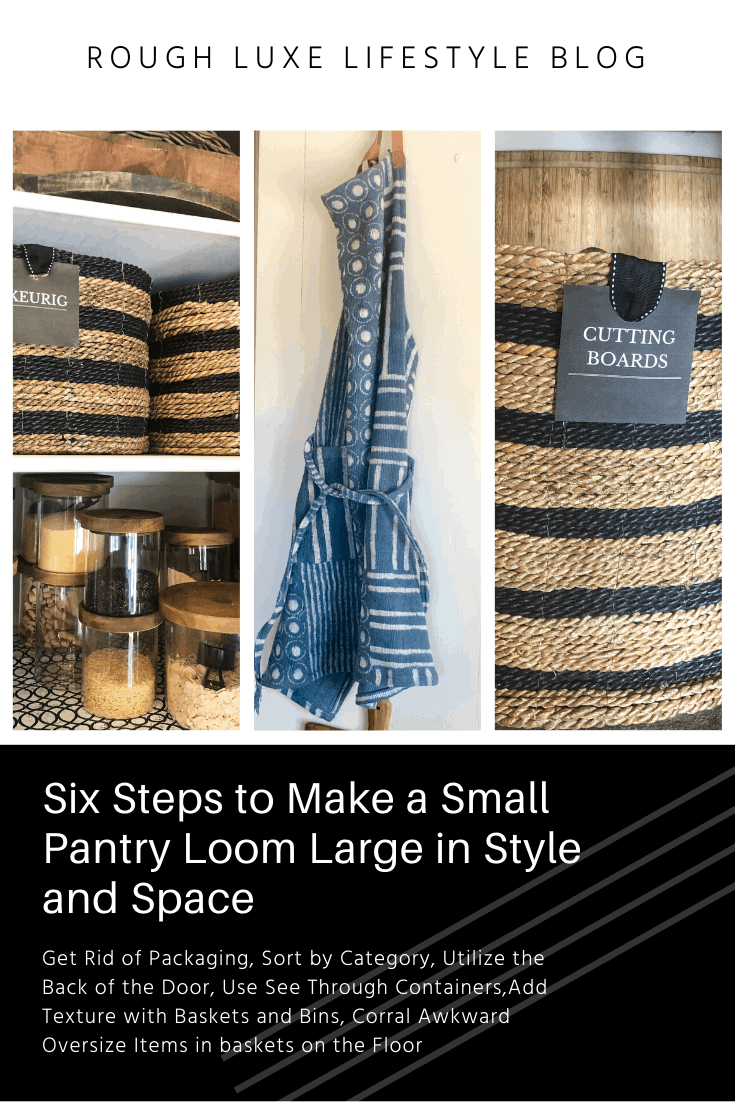 six steps to make a small pantry loom large in style and space