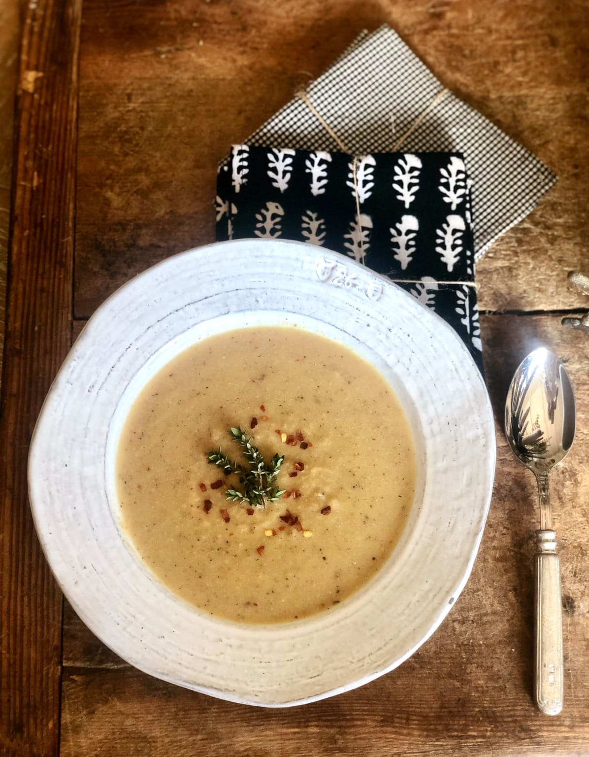 weight watchers friendly roasted cauliflower soup