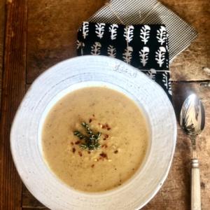 weight watchers friendly roasted cauliflower soup