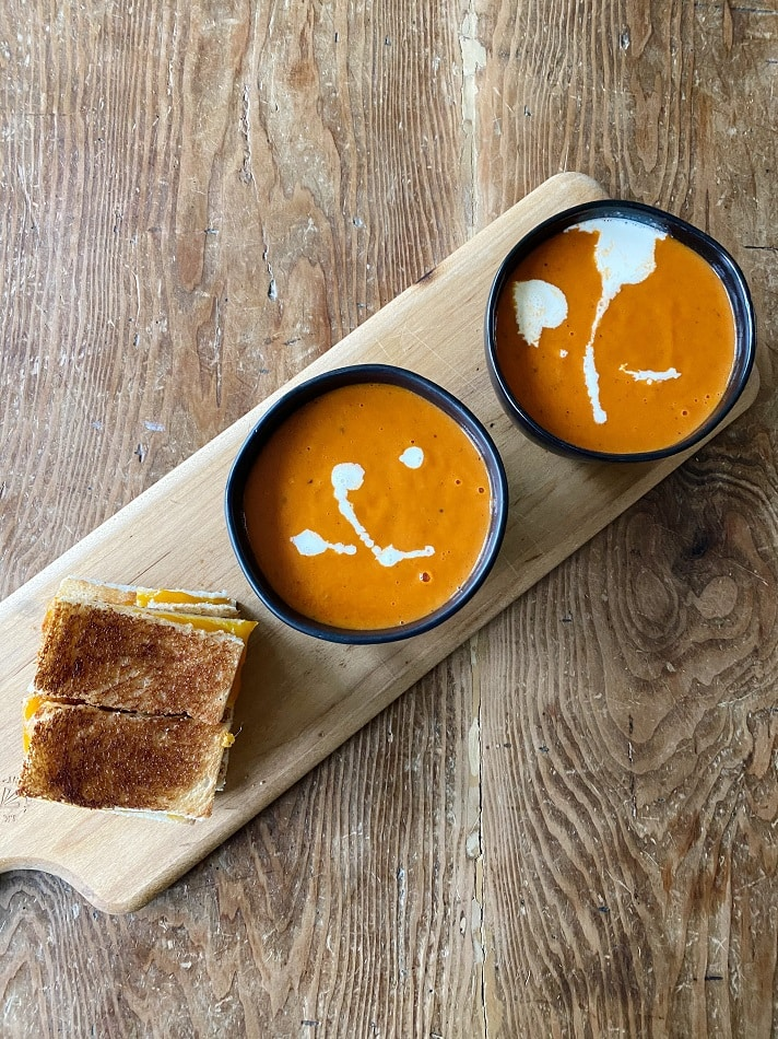 Tomato Soup and Grilled Cheese from Most Lovely Things