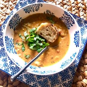 artichoke bisque & roasted tomato soup