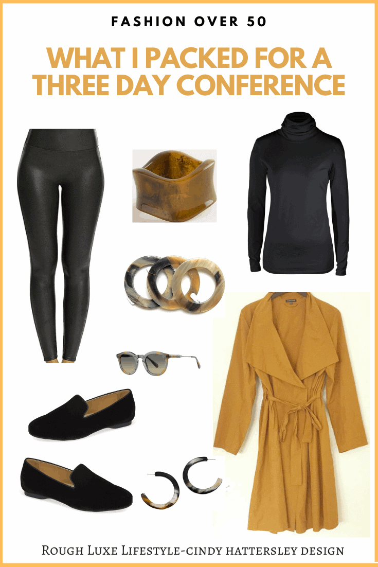what I packed for a three day conference eileen fisher trench