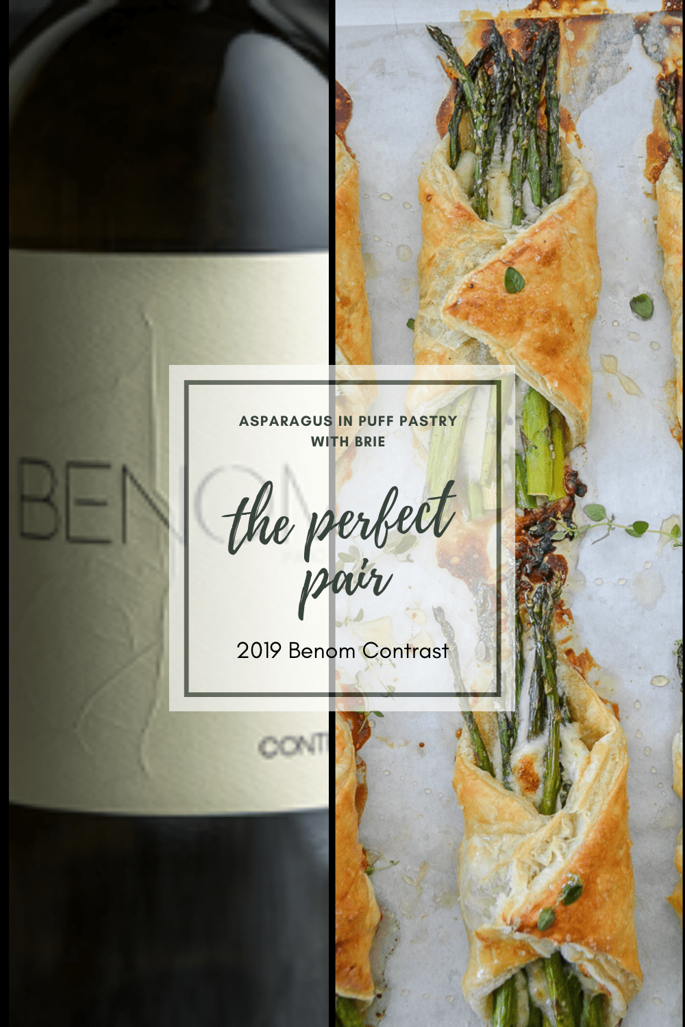 Benom Contrast and Asparagus In Puff Pastry with Brie