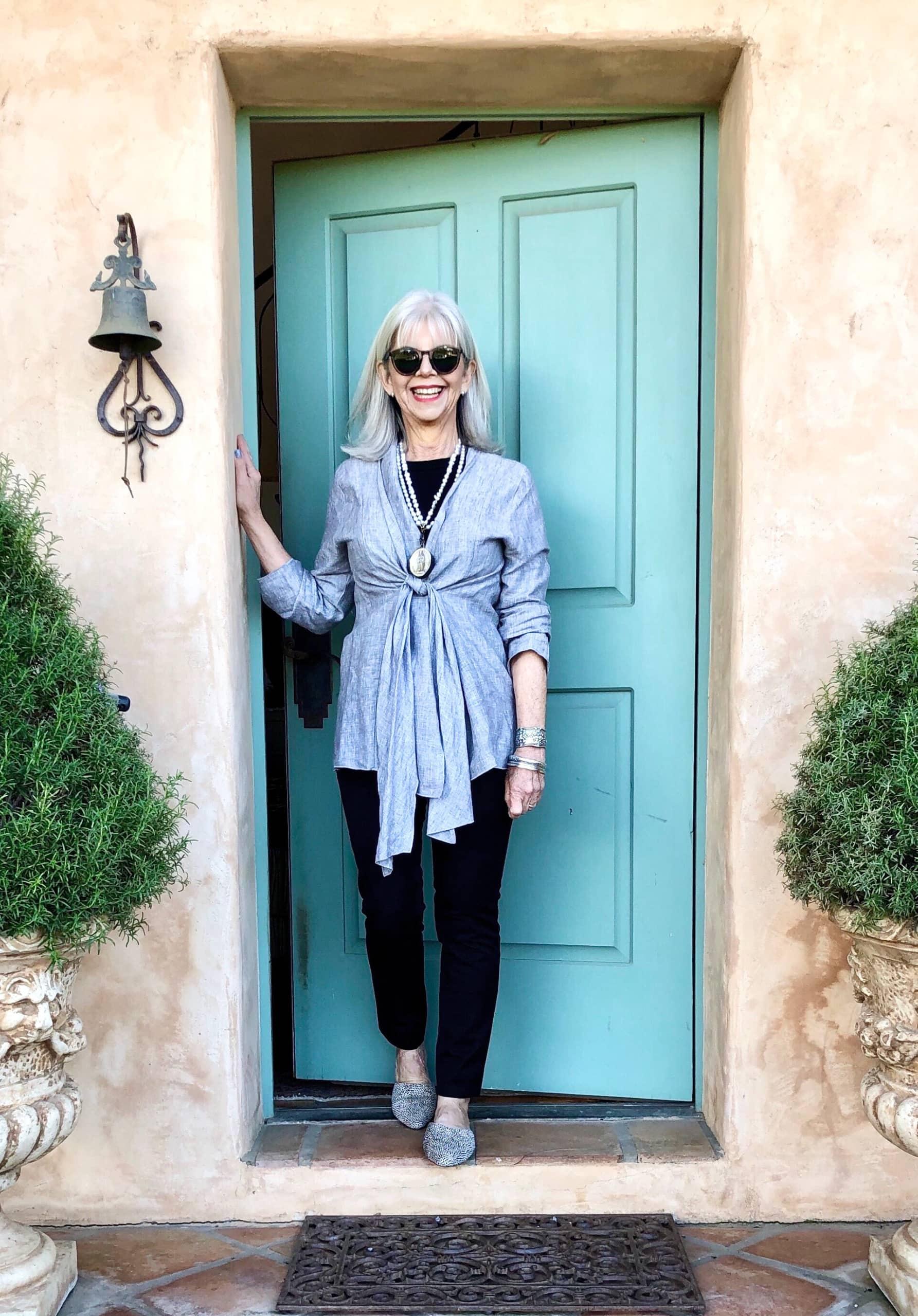 cindy hattersley at front door