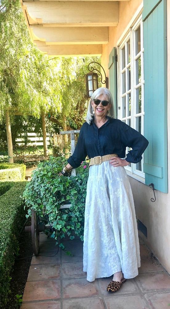 cindy hattersley in her garden wearing cp shades