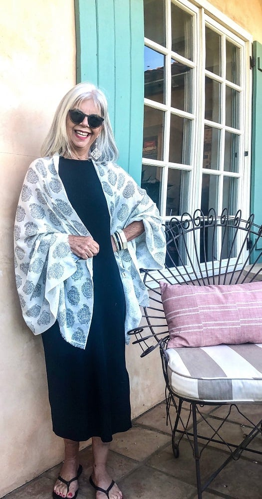 cindy hattersley in target dress with shawl
