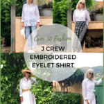 Over 50 Fashion-J Crew Eyelet Shirt