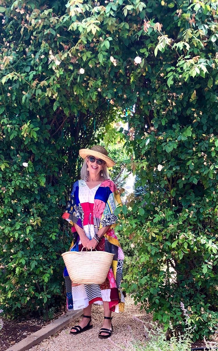 cindy hattersley in patchwork caftan and kaminski hat
