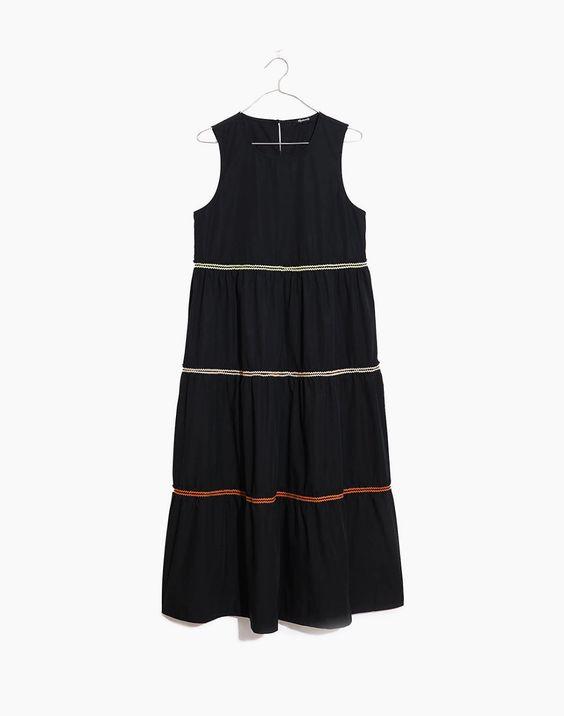 rickrack cattail tiered dress madewell