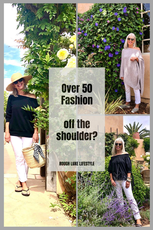 Over 50 Fashion Bare Shoulders