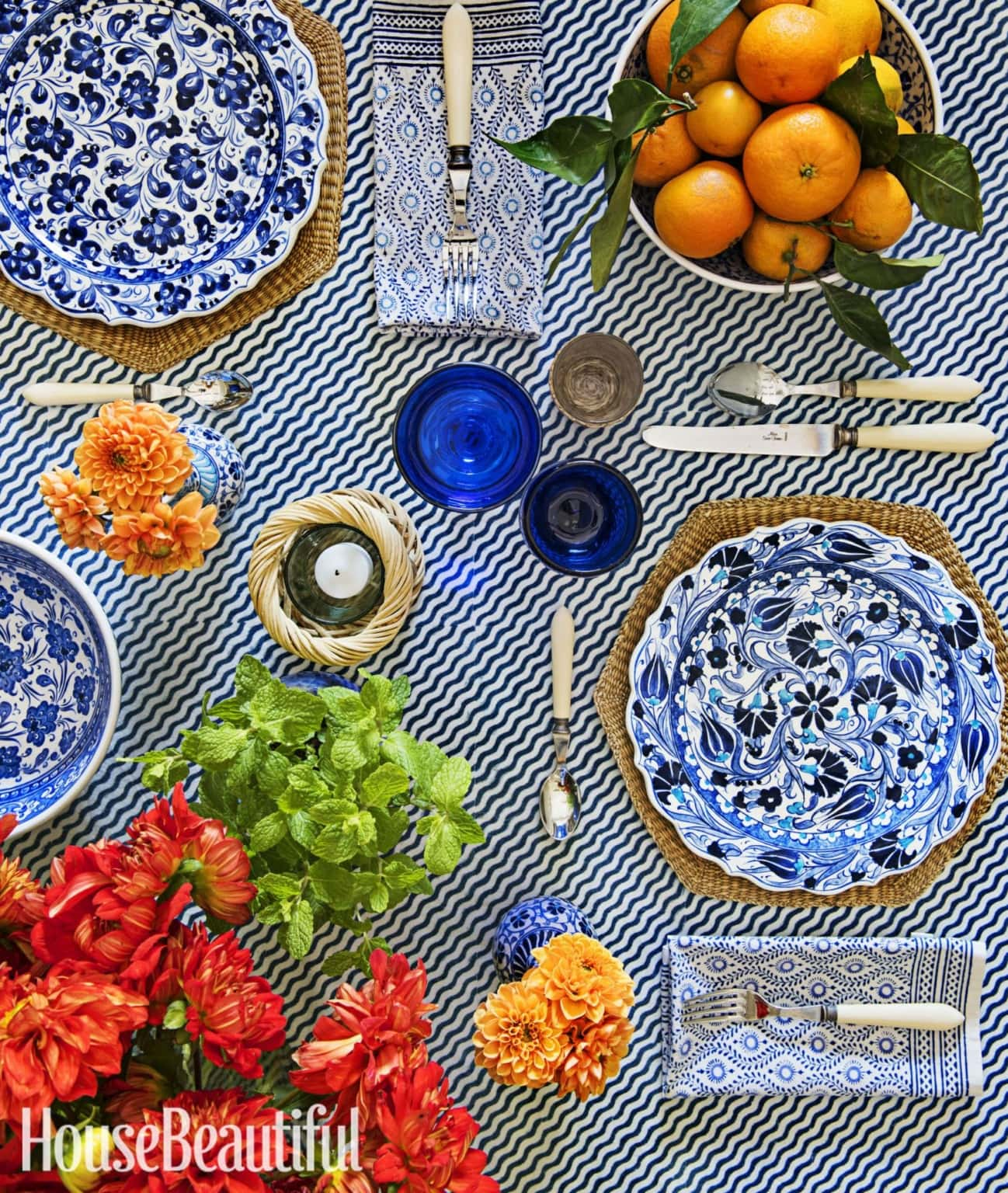house beautiful tablescape