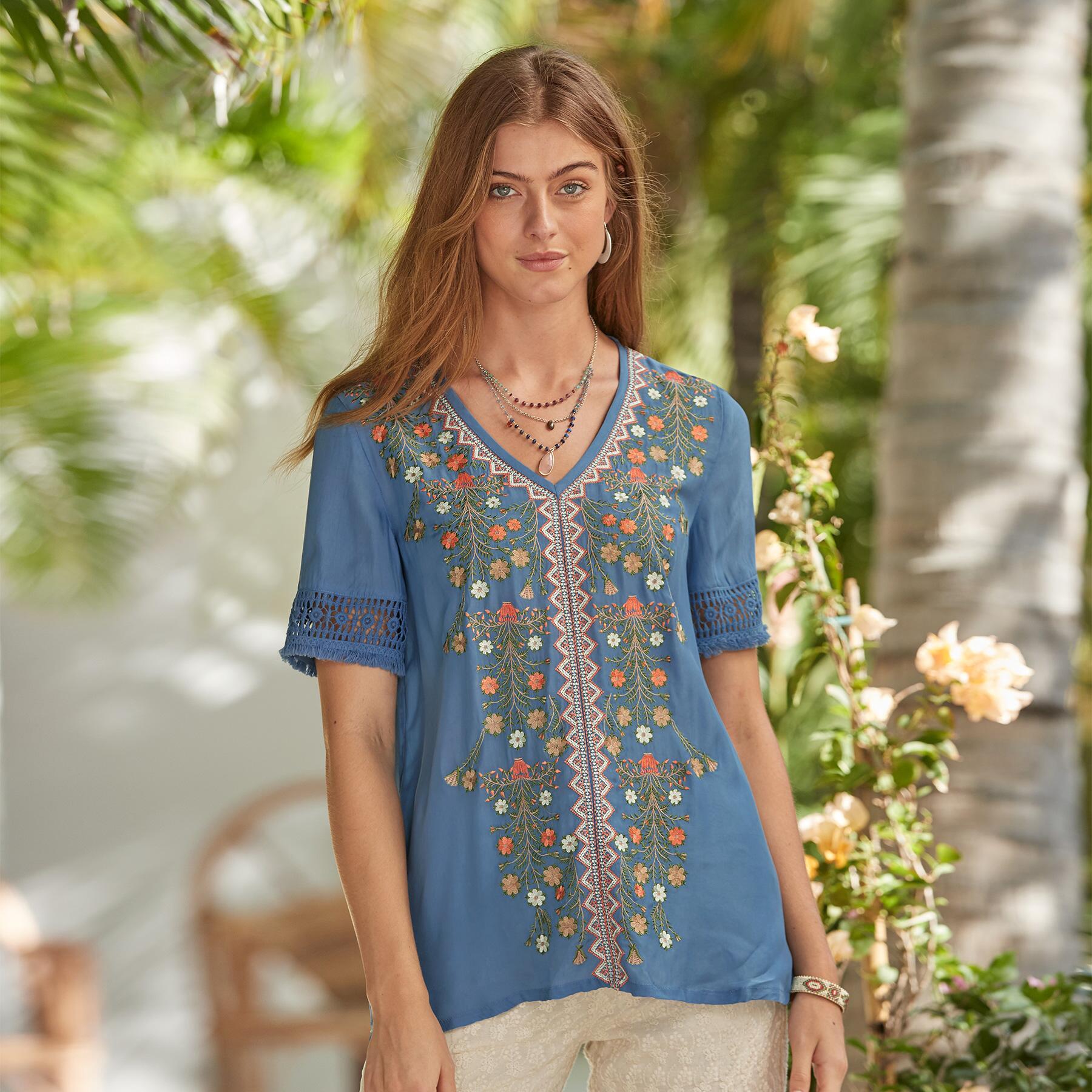 sundance embroidered top