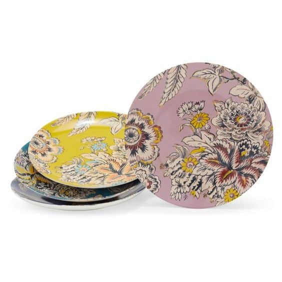 tropical toile appetizer plates Drew Barrymore for Walmart