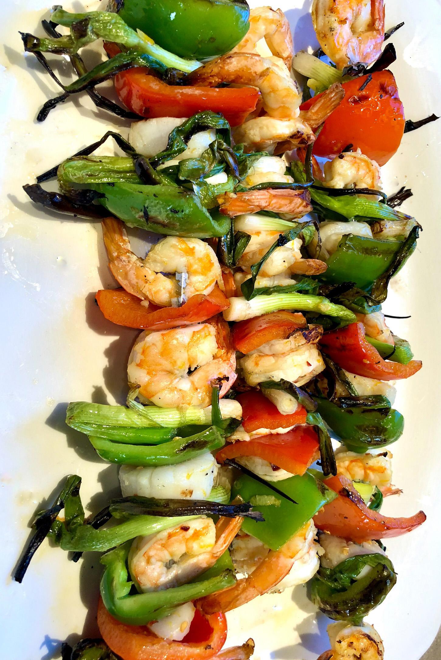 Cindy's Grilled Shrimp and Scallop Kebobs