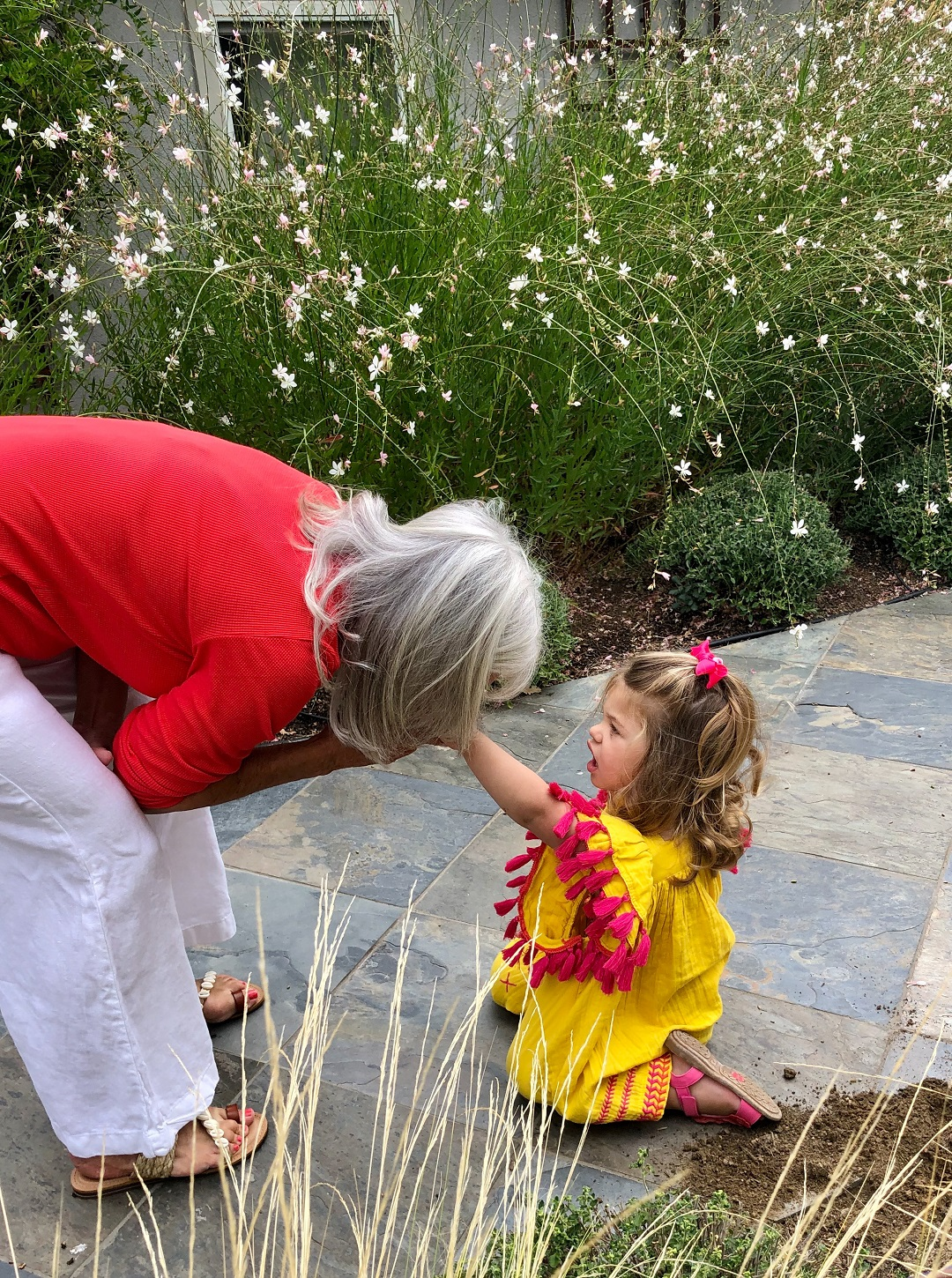 Fashion Blogger Cindy Hattersley in Michael Stars with granddaughter Summer in Mer St Barths Serena Dress