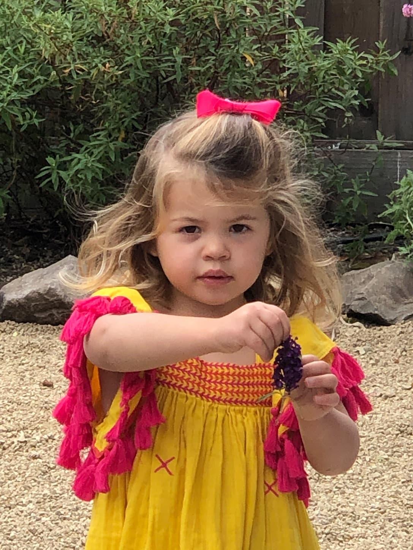 Over 50 Fashion Blogger Cindy Hattersley's granddaughter Summer in Mer St Barth Serena Tassel Dress