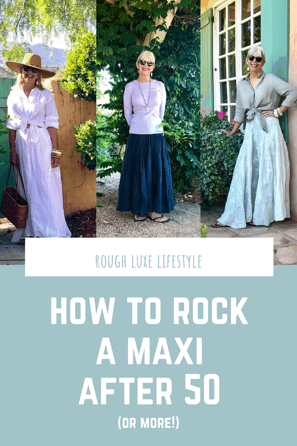 How to Rock a Maxi Skirt After 50