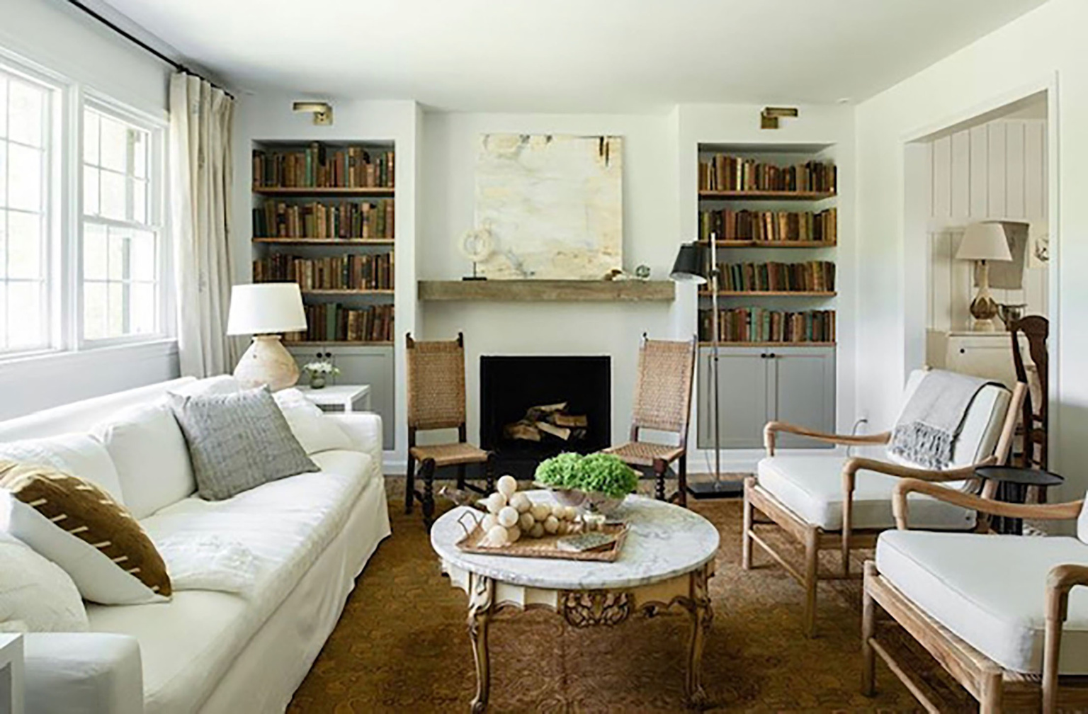 lauren liess designed living room on Cindy Hattersley's blog