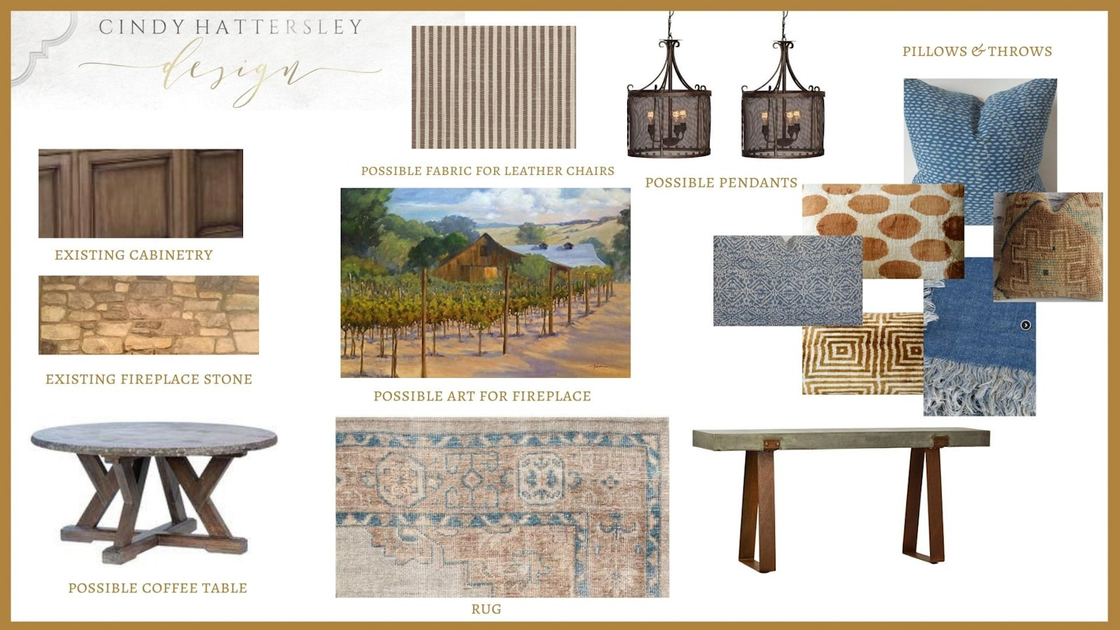 cindy hattersley design client moodboard