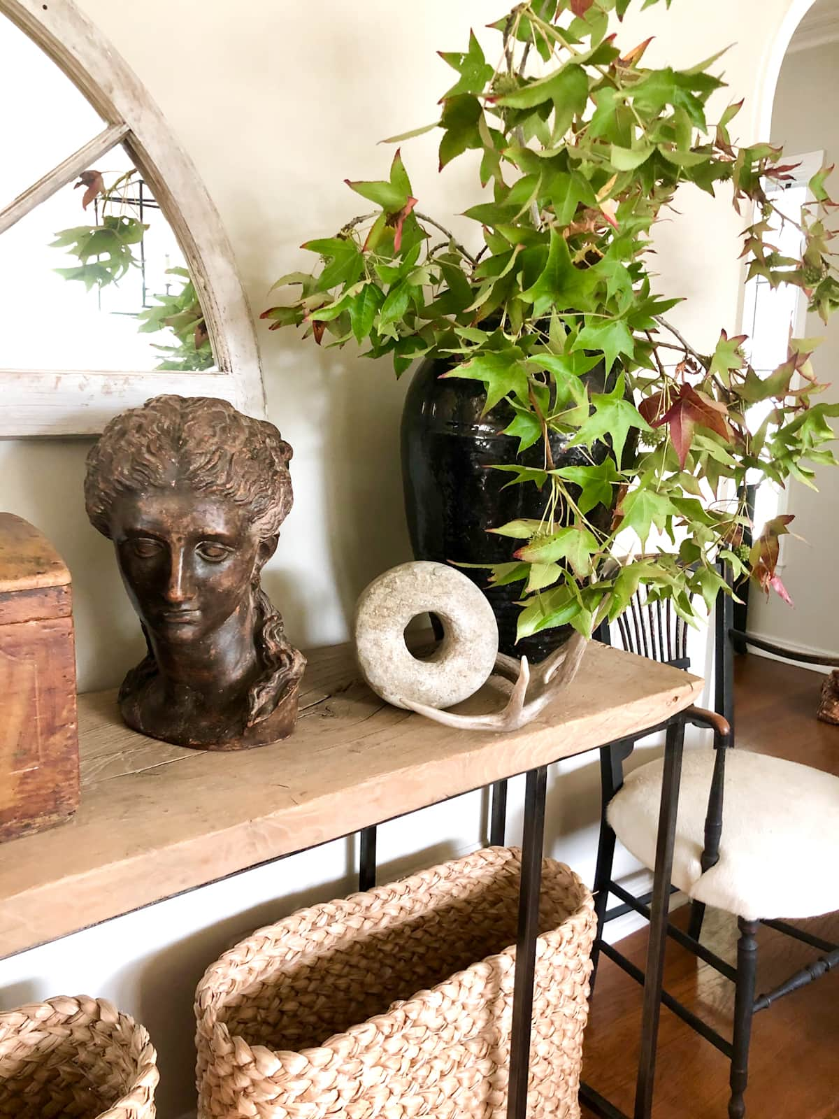 Cindy Hattersley Designed Console Table with Bust closeup