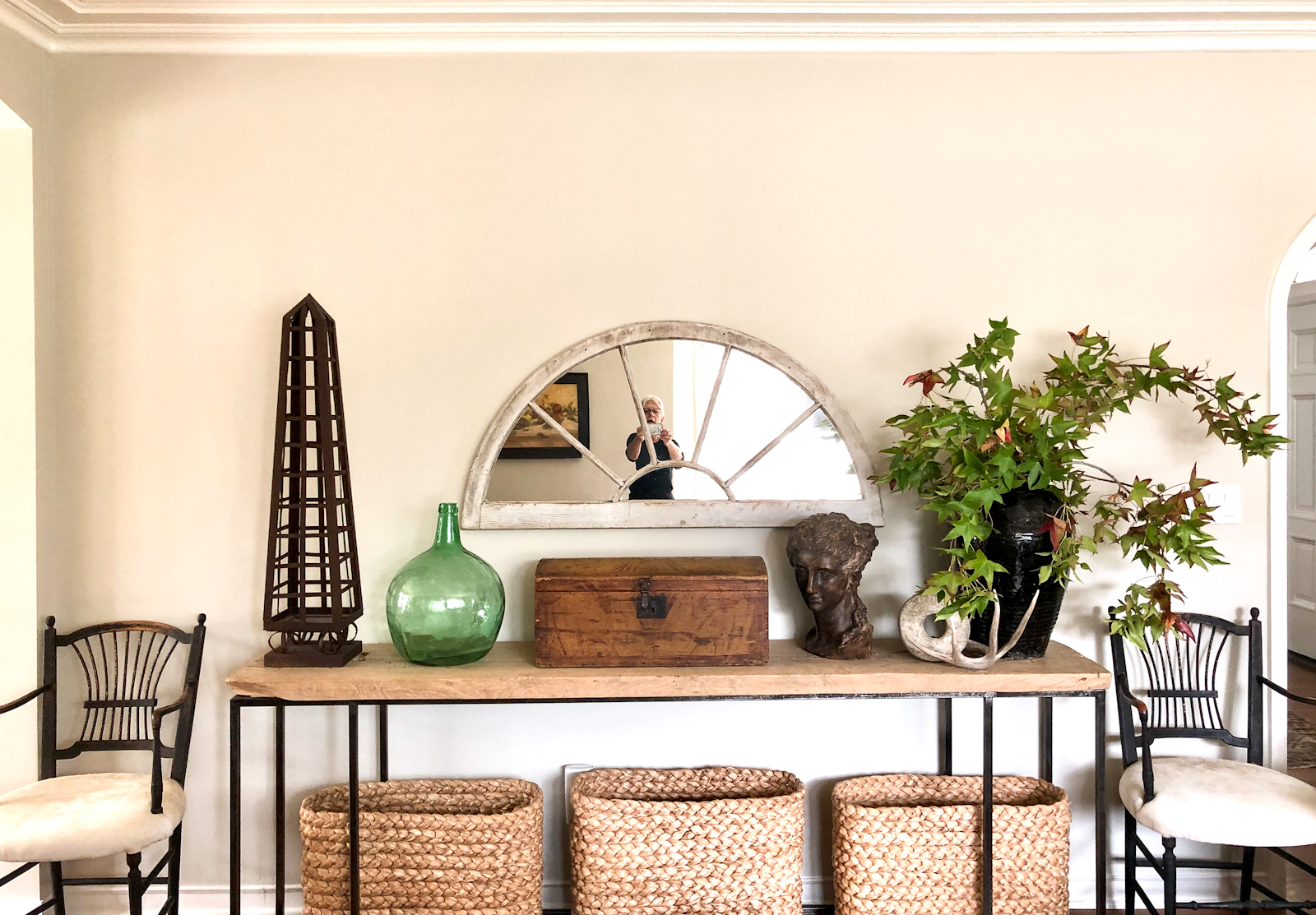 Cindy Hattersley designed console with bust and mirror