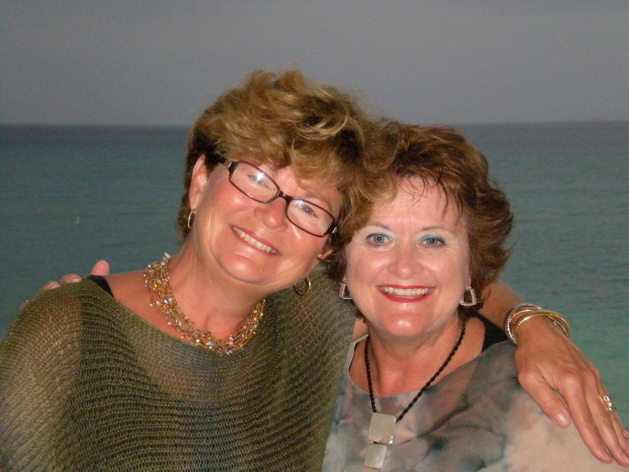 Cathy and her lifelong friend Cheryl
