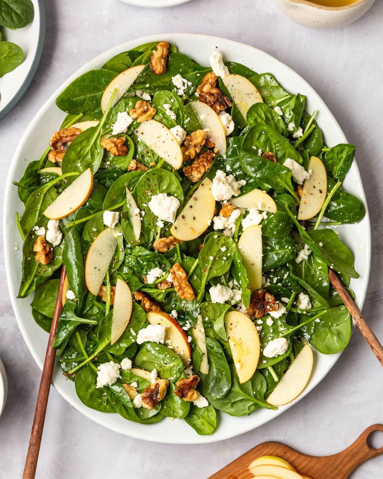 Kitchn Spinach, Feta, Apple and Walnut Salad