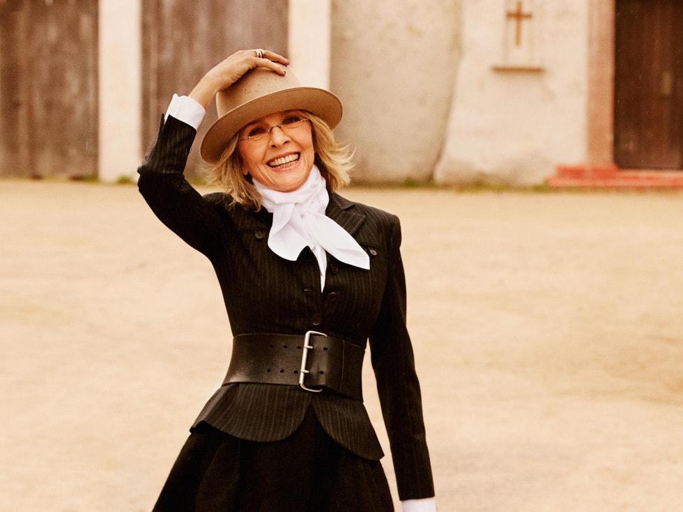 diane keaton's iconic style on cindy hattersley's blog