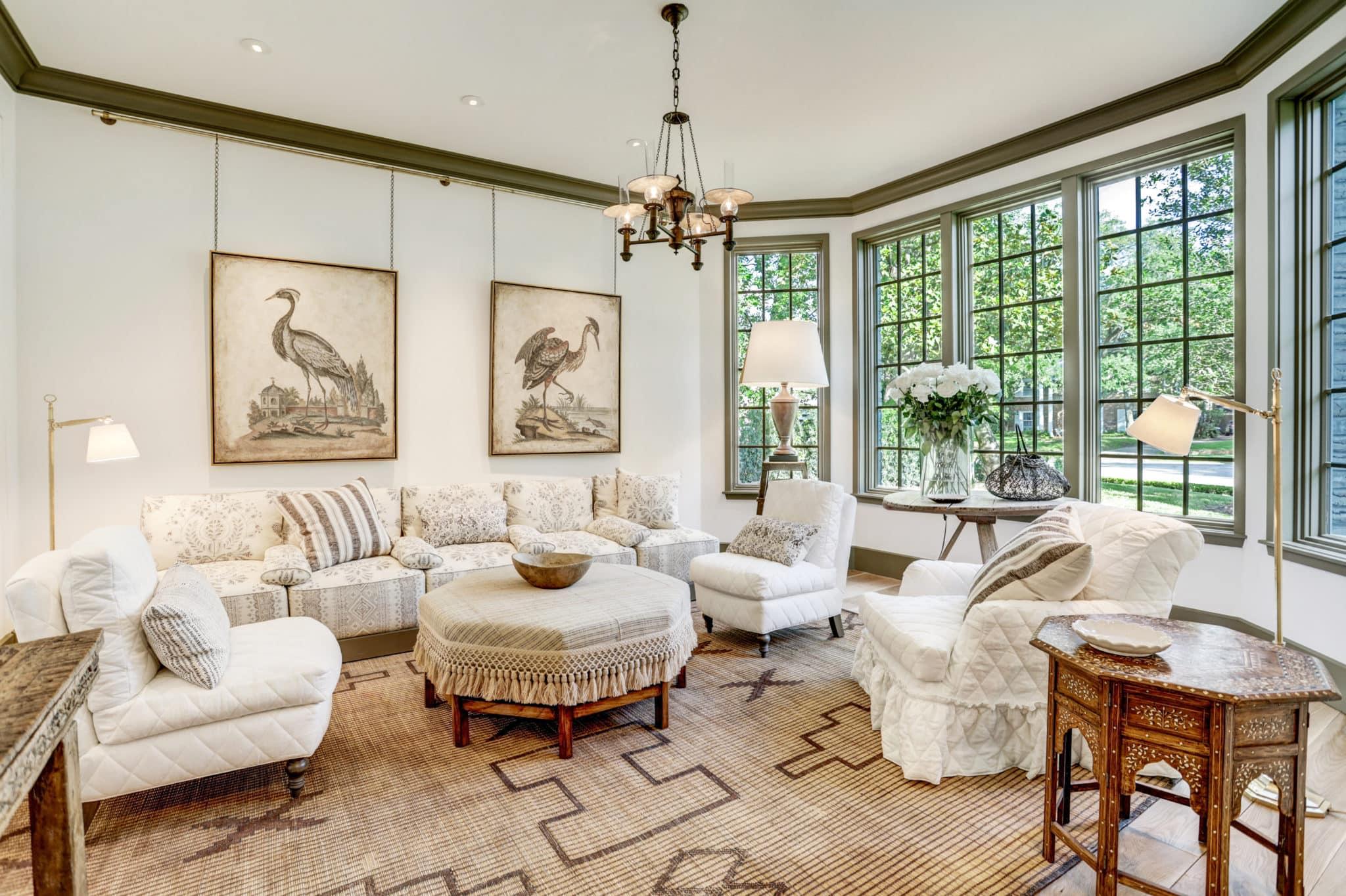 pam pierce designed formal living room milieu showhouse