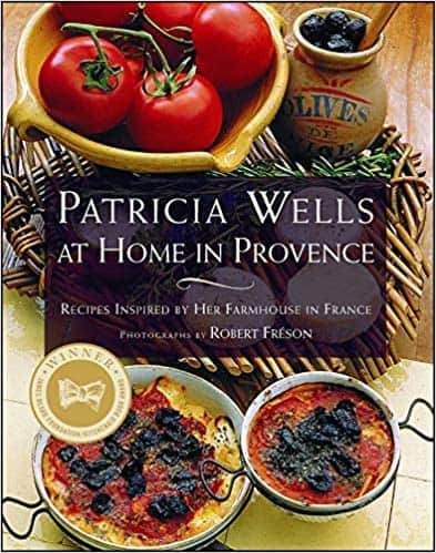 Patricia Wells at home in Provence cookbook
