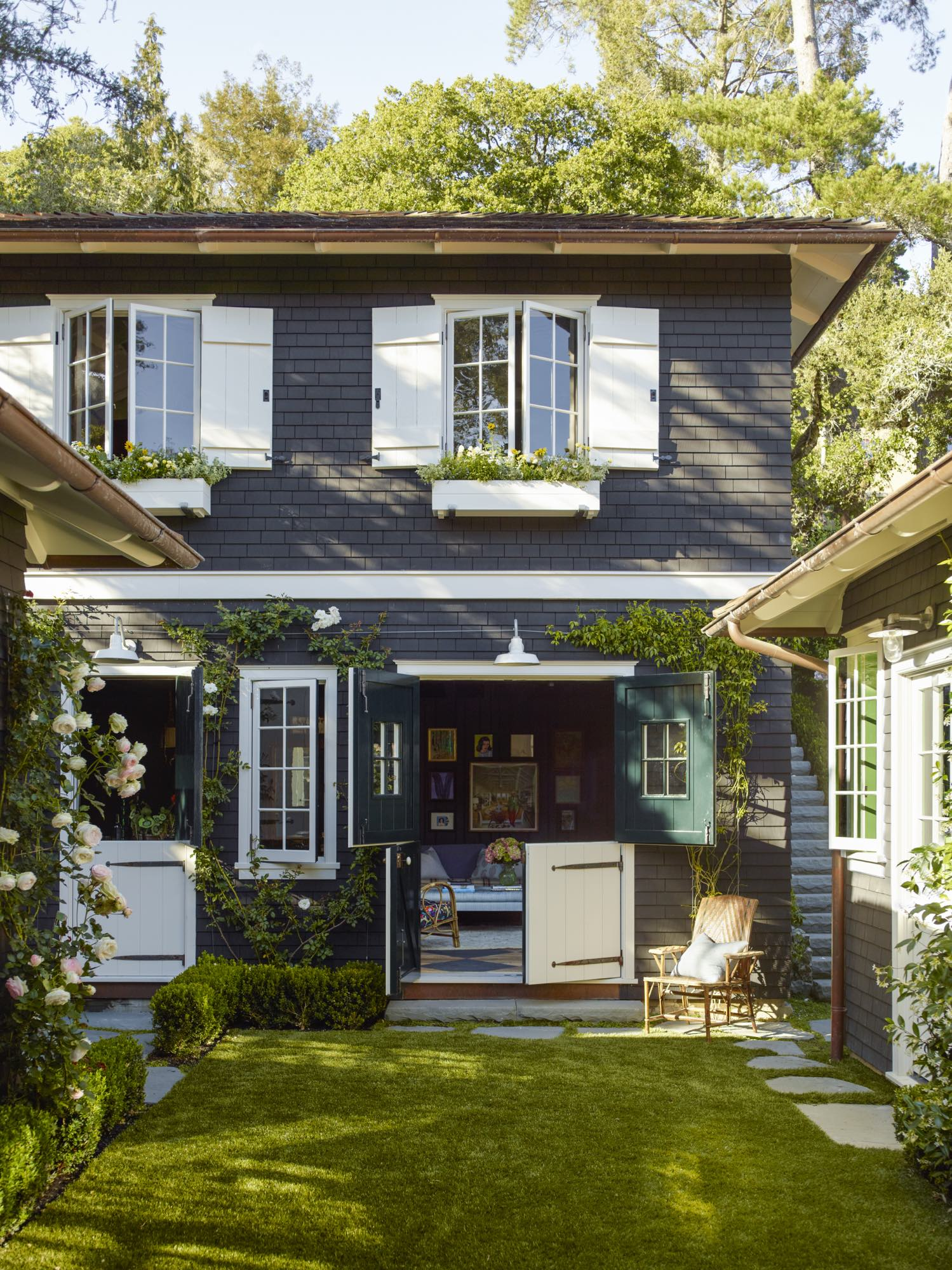GP Schafer designed shingle house in Mill Valley