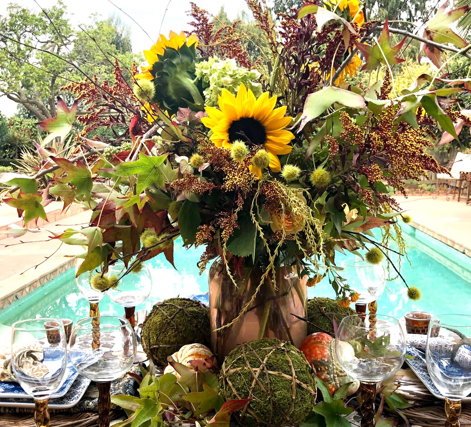 cindy hattersley designed fall tablescape with organic elements