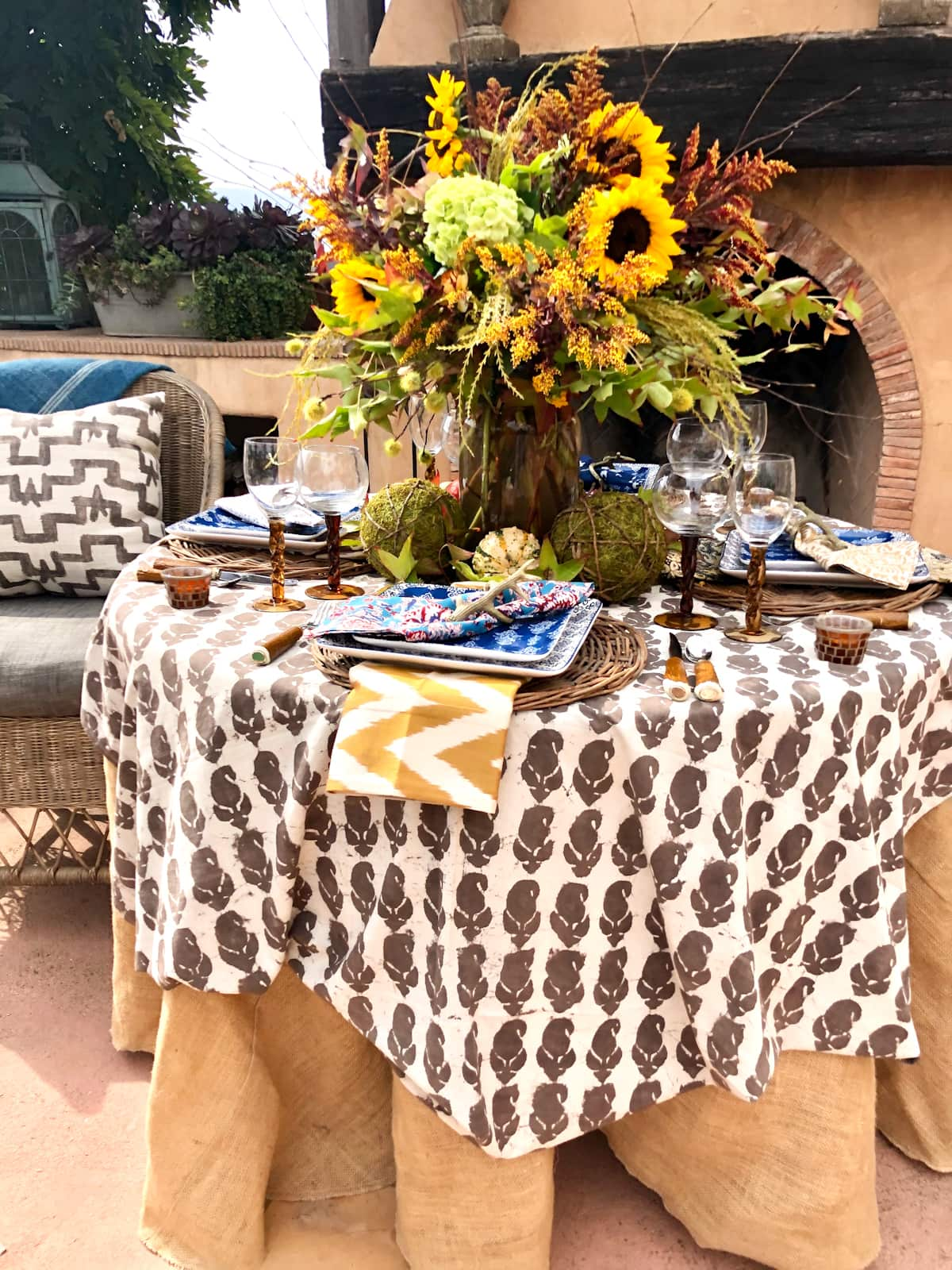 Create a Collected Fall Tablescape in Four Easy Steps
