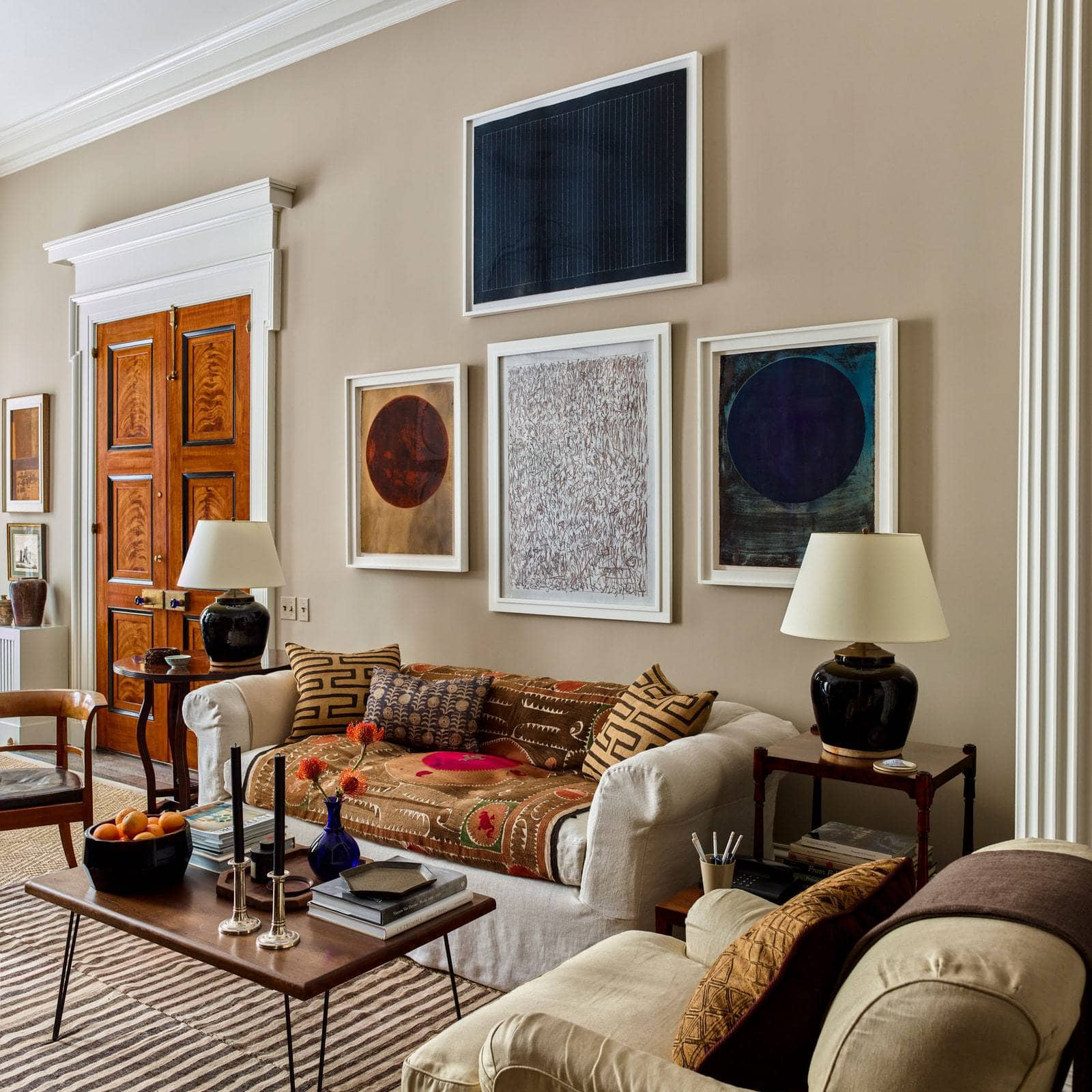 gil schafer new york apartment gallery wall in Architectural Digest