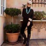 How to Style Velvet Leggings over 50