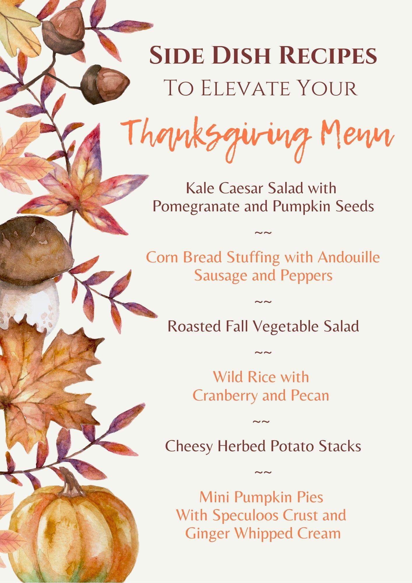 Project Design Thanksgiving Side Dish Menu